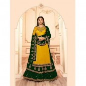 Semi Stitched High Quality Embroidery Georgette Four Piece